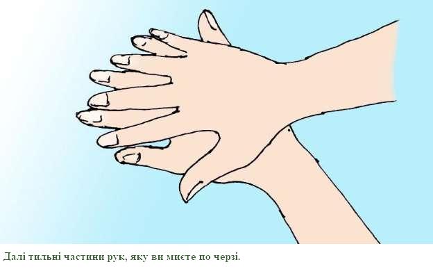 4. Потріть тильну частину руки